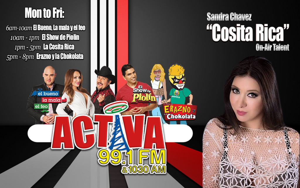 Cosita Rica On-Air Talent Activa Charlotte 99.1fm