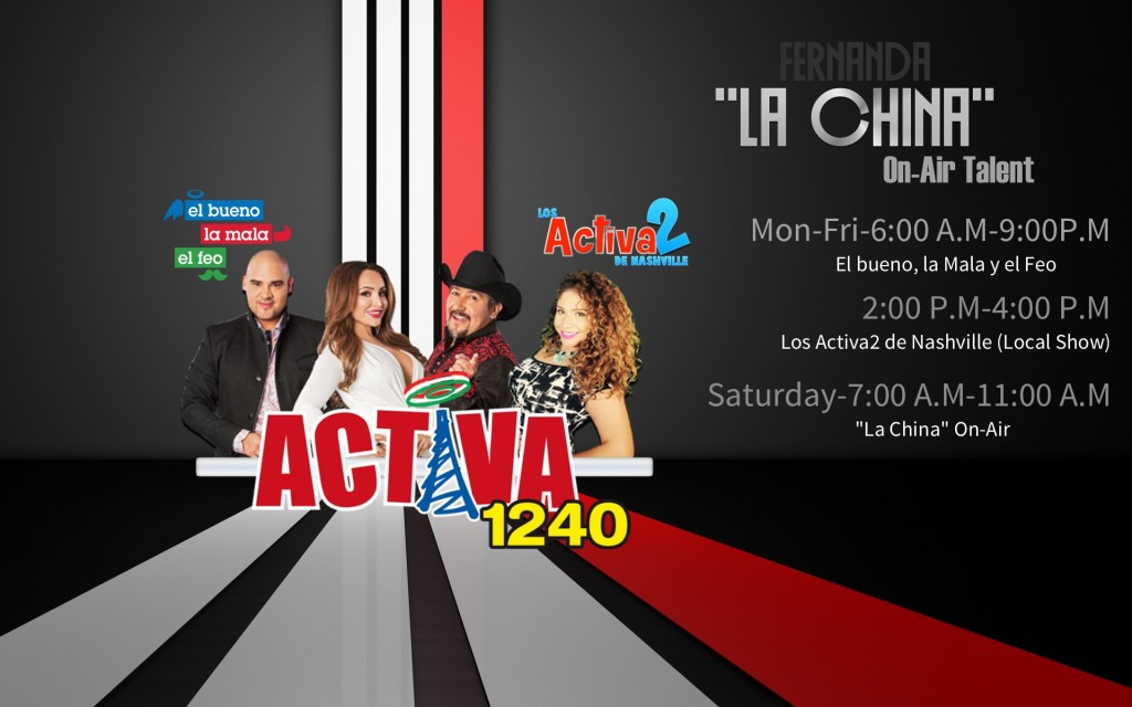 La China On-Air Talen Activa 1240 Nashville
