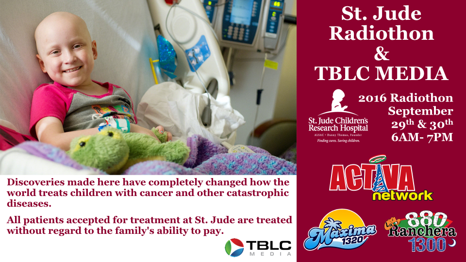 Saint Jude Radiothon sponsored by TBLC Media - Special Event
